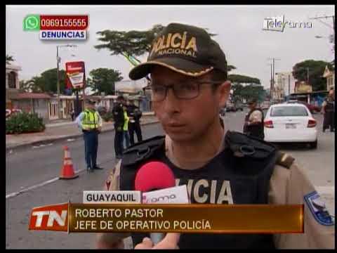 Operativo policial en vehículos y buses
