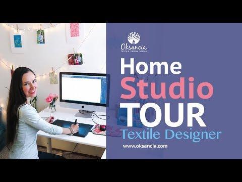 My textile design home studio tour and top 5 tools for digital textile design home studio setup.