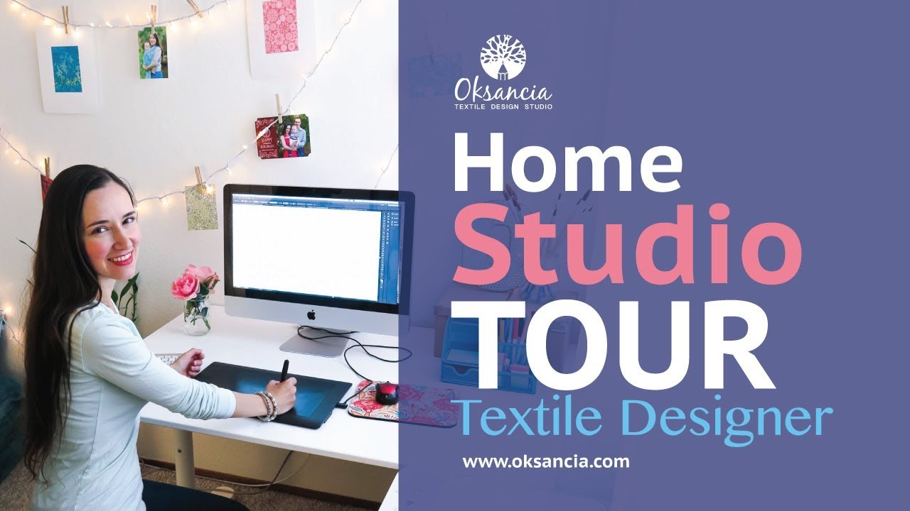 My textile design home studio tour and top 5 tools for digital ...