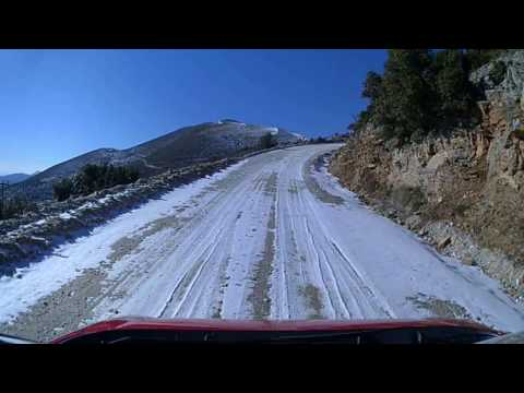 Ascent and Descent with new tyres Vredestein Quatrac 5 - Frozen Ground❄ Polymilos Kozani 🇬🇷