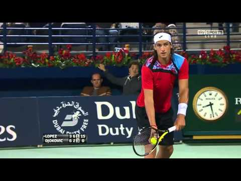 ATP 2011 Dubai R2 Lopez vs Djokovic Highlights [HD]