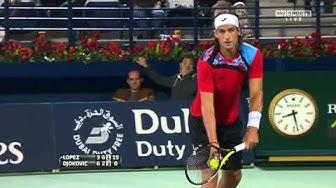 ATP 2011 Dubai R2 Lopez vs Djokovic Highlights [HD]
