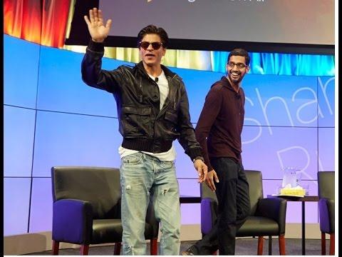Shahrukh Khan & Sundar Pichai Google