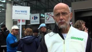 Greenpeace : Une action à Montigny pour dénoncer la surexploitation de la pêche au thon
