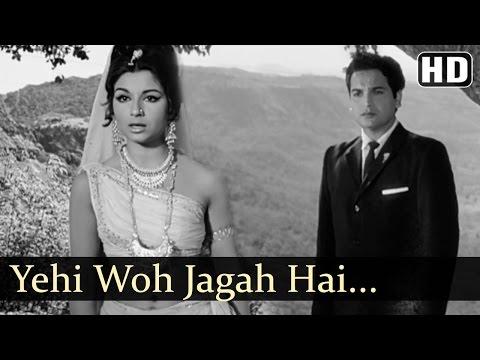 Yehi Woh Jagah Hai | Yeh Raat Phir Na Aayegi Songs | Sharmila Tagore | Biswajeet | Filmigaane