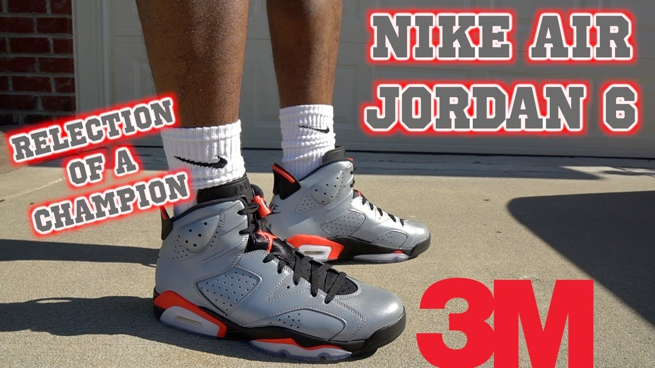 660bb034450c0 NIKE AIR JORDAN 6 REFLECTIONS OF A CHAMPION (ON FEET) - YouTube
