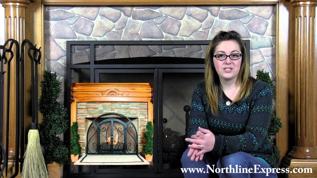 choosing the right fireplace screen for your fireplace youtube