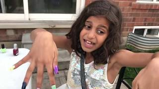 Kids pretend play Color ACRYLIC NAILS Prank!! funny video compilation