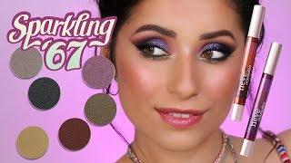Trucco occhi viola e verde -  SPARKLING67 collection - Neve Cosmetics