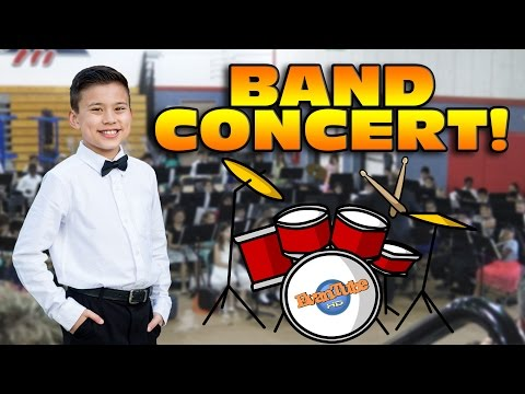 Evan's BAND CONCERT! Big Beats and Waffle Cones!