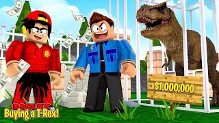 ROBLOX - I BOUGHT A T-REX FOR $1,000,000!!