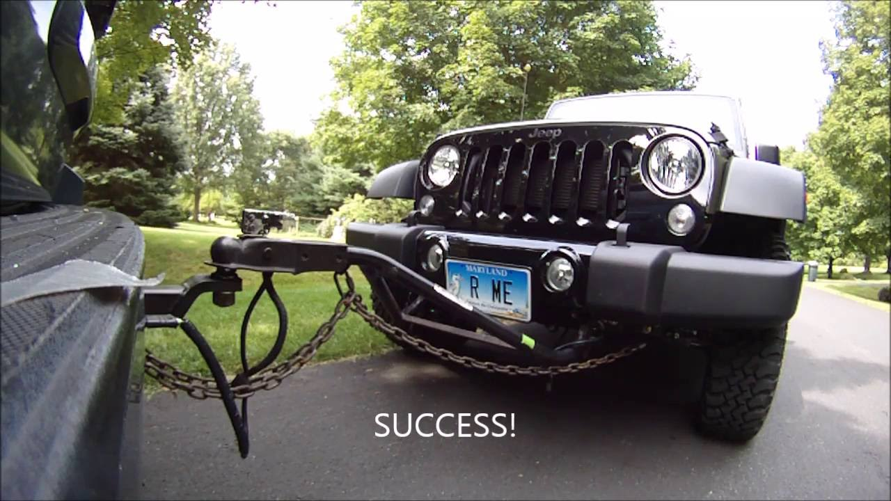 jeep wrangler towing test drive youtube
