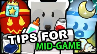 TIPS & TRICKS For MID-GAME (From Noob To Pro) | Roblox Bee Swarm Simulator