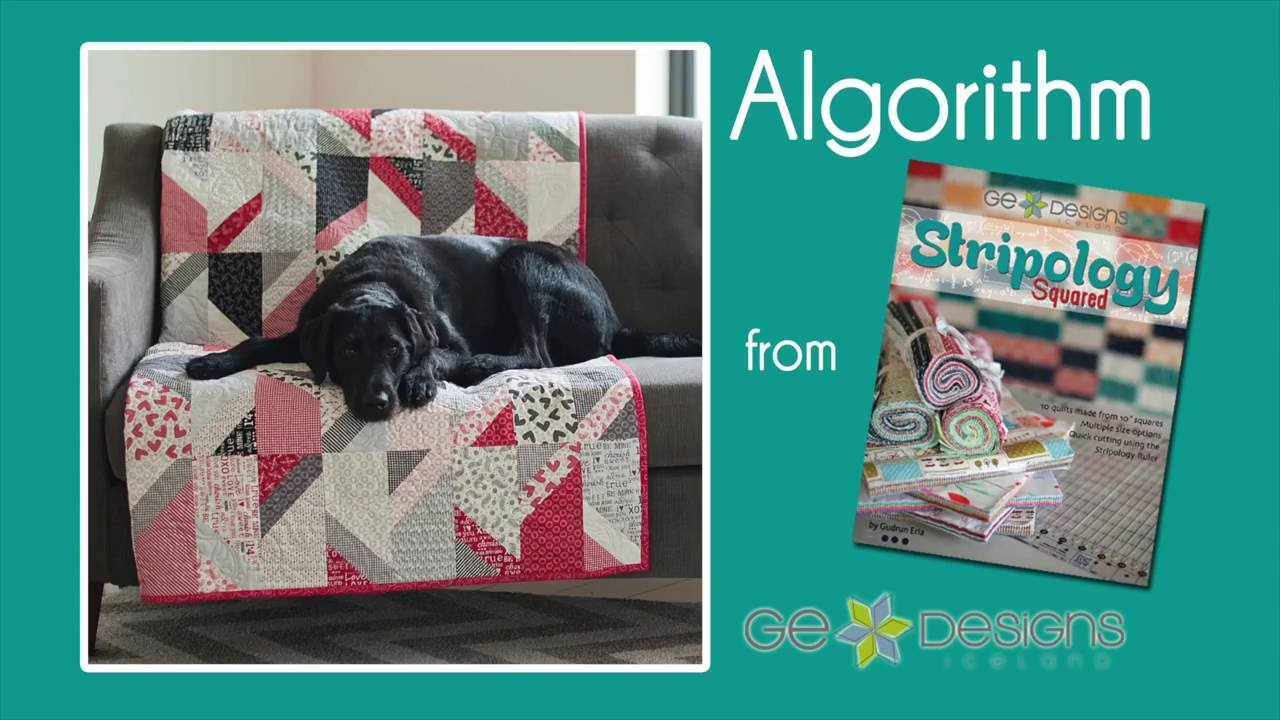 "The Algorithm quilt is quick and fun to do with a stack of 10"" squares and the Stripology Ruler! Creative Grids USA Moda Fabrics United Notions OLFA Creates https://youtu.be/lUYAawXFSUE"