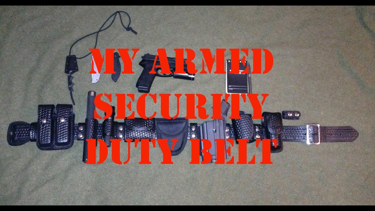 Armed Security Officer Duty Belt Edc Youtube