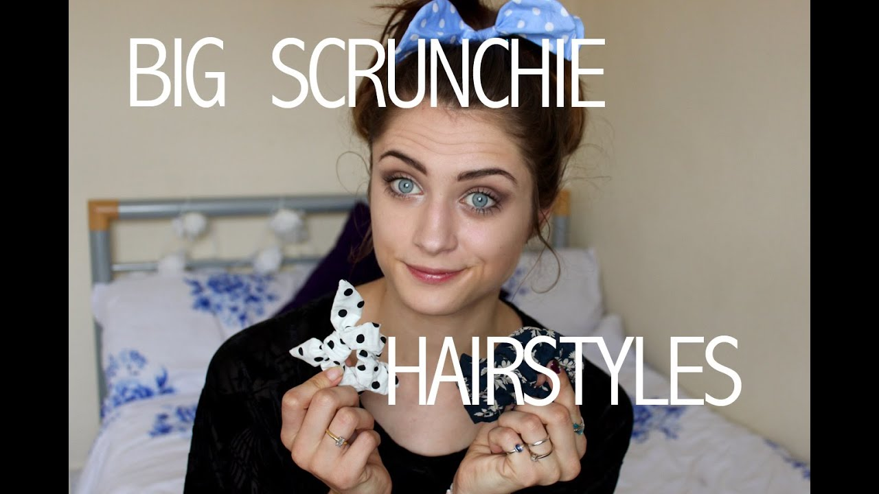 Scrunchie Hair Styles: Laurel Elizabeth - YouTube