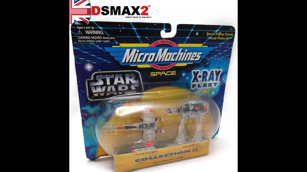 star wars micro machines x ray fleet at at starfighter sealed