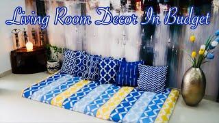 Living Room Decor Ideas On A Budget / Lower Sitting Area Decor  / Priya Vlogz