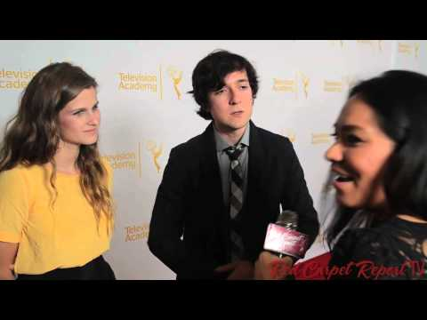 Josh Brener & Meghan Falcone at the 66th Emmy Awards Producers Peer Group Reception Emmys