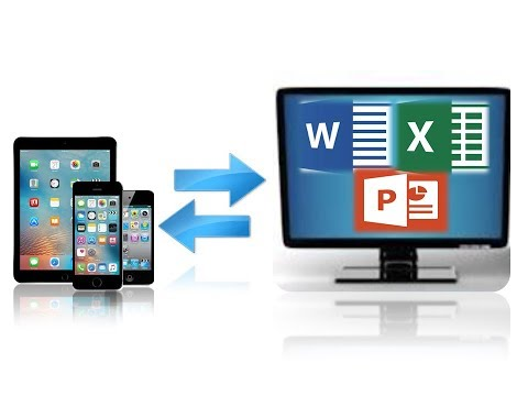 How To Transfer Word, Excel, Powerpoint Files From IPad, IPhone, IPod To Your PC Vice Versa