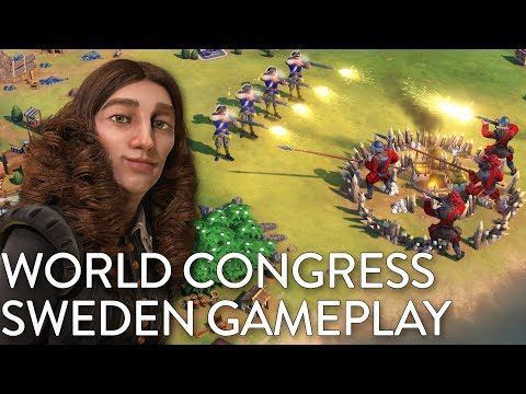 Civilization VI: Gathering Storm - Sweden Gameplay + World Congress (Dev Livestream)