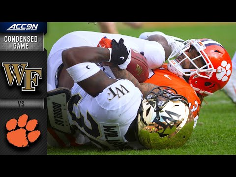 Wake Forestvs. Clemson Tigers Condensed Game   ACC Football (2019-20)