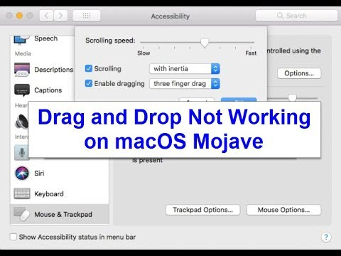 Drag and drop not working on macOS Mojave (Fixed)