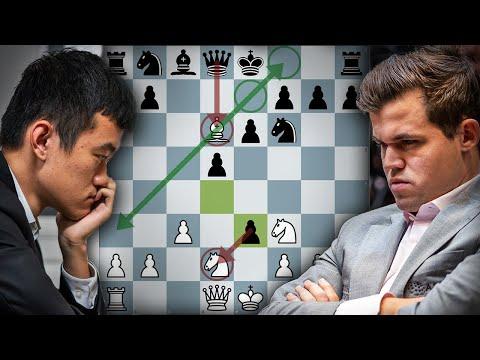 Magnus Carlsen's London Opening NOVELTY GAMBIT Destroys Ding Liren