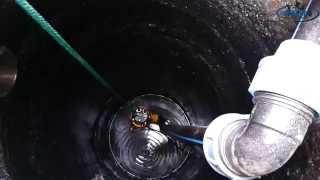 Монтаж фекально дренажного насоса в септик, установка канализационного люка(, 2014-04-25T14:01:30.000Z)