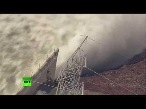 Le déversoir d'un barrage Oroville a cédé (Direct du 13.02)