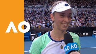 Elise Mertens on-court interview (3R) | Australian Open 2020