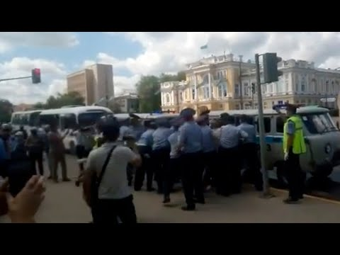 Как прошли митинги в Казахстане на 16-00 по Астане. 06.06.2020 / БАСЕ