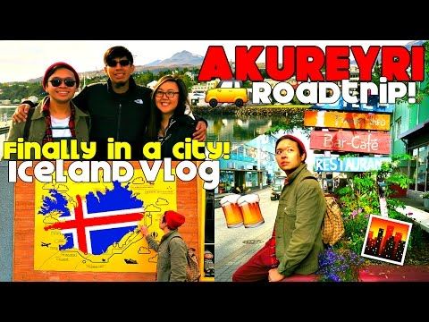 Iceland Vlog #5: WE'RE IN AKUREYRI!! | Food, Whales, Grocery Shopping, City Life!