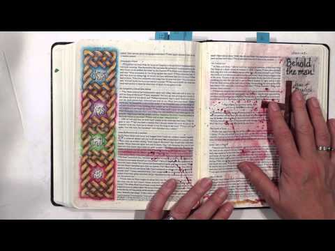 Bible Journaling: No bleed-through or wrinkling