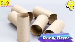 Diy | Reuse / Recycle empty tissue roll | Awesome decor idea with toilet paper roll | Room decor