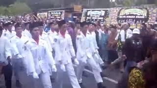 Ribuan pelayat membajiri jalan saat pemakaman ustadz KH Sunardi Syahuri Yogyakarta