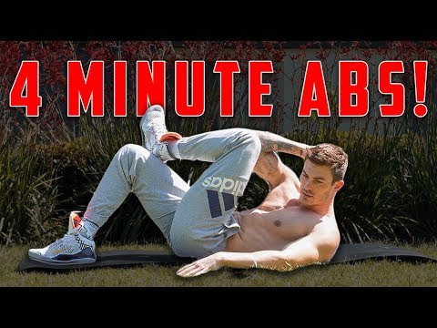 4 Minute Abs Workout | Home Ab Exercises for Six Pack Abs