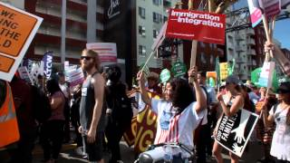 UnitedWeStay takes to the streets of L.A. for May Day rally.
