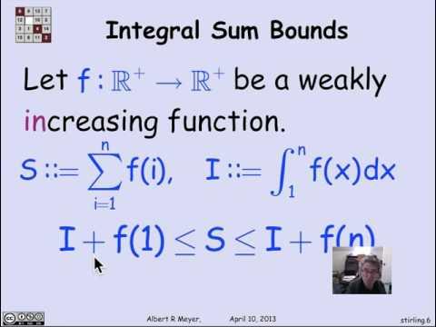 3.1.9 Stirling's Formula: Video
