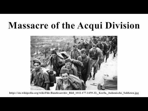 Massacre of the Acqui Division