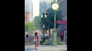 Watercolor painting tips, Adding Figures or Making Changes by Judy Mudd