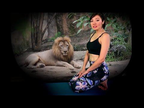 Lions breath (Simhasana Pranayama)