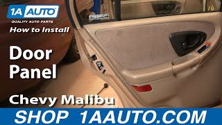 How To Remove Rear Door Panel 97 03 Chevy Malibu