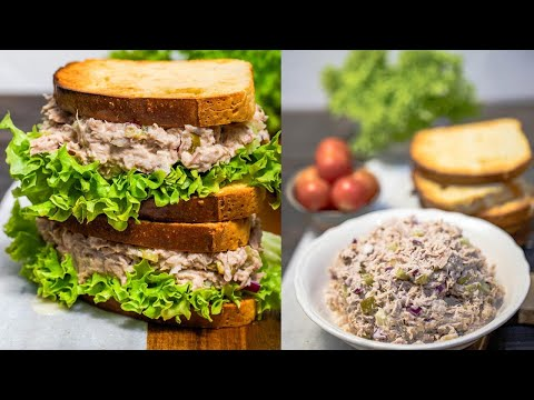 Best Easy & Healthy Tuna Salad Recipe Low Carb & Keto Tuna Sandwiches