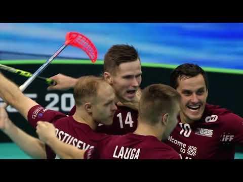 Pasaules čempionāts florbolā - Latvija pret Čehiju (4:3) spēles apskats