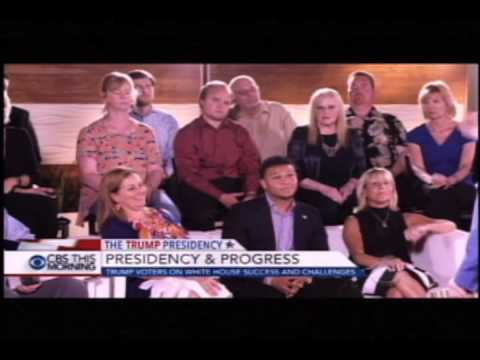 "CBS This Morning Luntz Focus Group - Trump Voters ""Presidency and Progress"" - June 19, 2017"