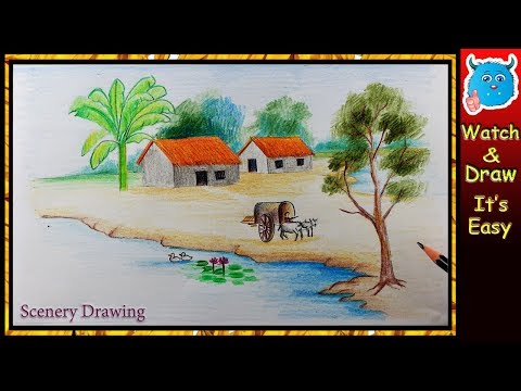 Easy Scenery Drawing for Kids