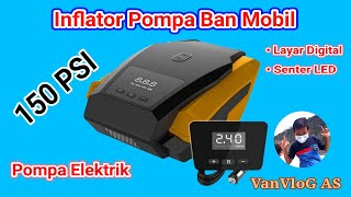 Pompa Ban Mobil Elektrik Digital Portable Inflator Serba Guna