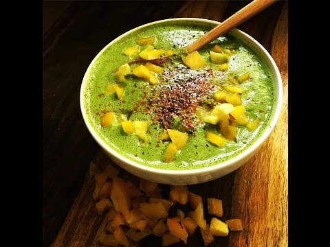 Cream of Kale Soup (low fat raw vegan)-choosing HAPPY