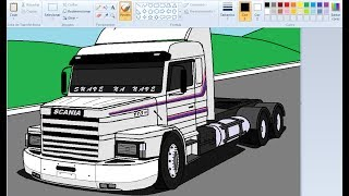 DESENHANDO SCANIA 113 NO PAINT